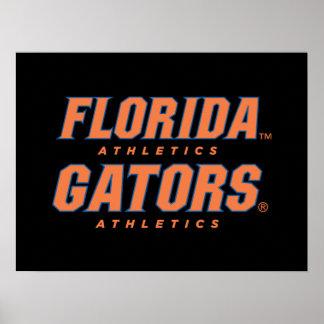 Atletismo de la Florida - naranja y azul Impresiones