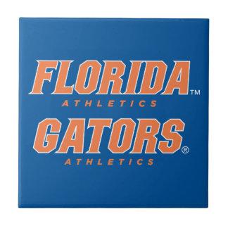Atletismo de la Florida - naranja y blanco Azulejo Cuadrado Pequeño
