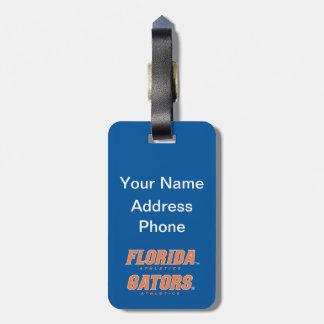 Atletismo de la Florida - naranja y blanco Etiquetas Maletas