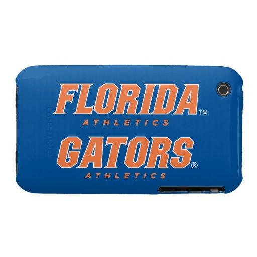 Atletismo de la Florida - naranja y blanco Case-Mate iPhone 3 Protector