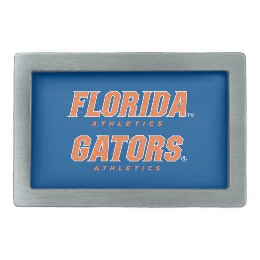 Atletismo de la Florida - naranja y blanco Hebillas Cinturón Rectangulares