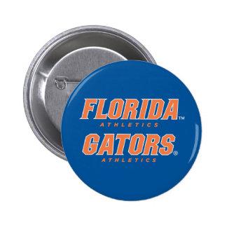 Atletismo de la Florida - naranja y blanco Pin Redondo 5 Cm