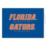 Atletismo de la Florida - naranja y blanco Tarjetas
