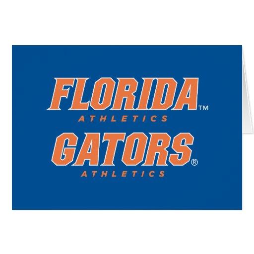 Atletismo de la Florida - naranja y blanco Felicitación