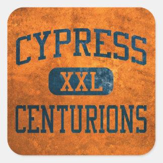 Atletismo de los centuriones de Cypress Pegatina Cuadrada