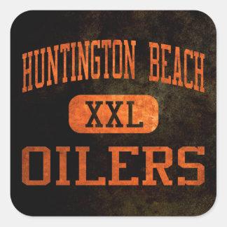 Atletismo de los engrasadores de Huntington Beach Pegatina Cuadrada