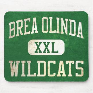 Atletismo de los gatos monteses de Brea Olinda Alfombrillas De Raton