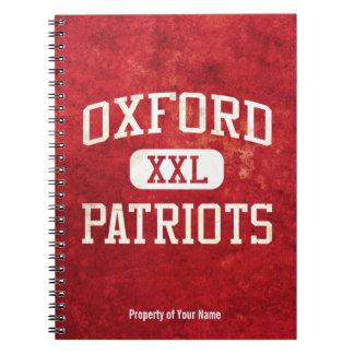 Atletismo de los patriotas de Oxford Cuaderno