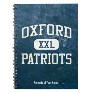 Atletismo de los patriotas de Oxford Libretas