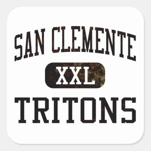 Atletismo de los tritones de San Clemente Pegatina Cuadrada