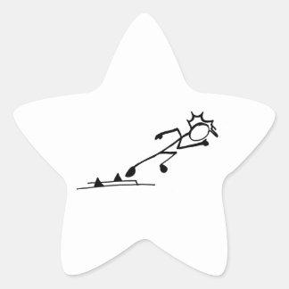 Atletismo de Stickman del esprinter Colcomanias Forma De Estrella Personalizadas