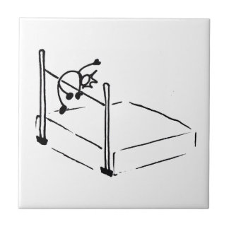Atletismo de StickMan del salto de altura Azulejo Cuadrado Pequeño