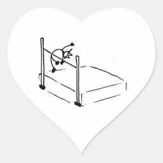 Atletismo de StickMan del salto de altura Pegatina Corazón
