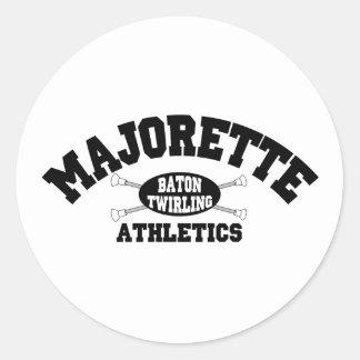 Atletismo del Majorette Pegatina Redonda
