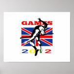 Atletismo del salto de altura de los juegos 2012 d posters