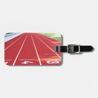 Atletismo - impresión del corredor etiquetas para maletas
