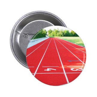 Atletismo - impresión del corredor pin redondo de 2 pulgadas