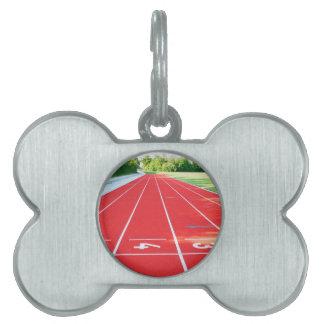 Atletismo - impresión del corredor placas de mascota