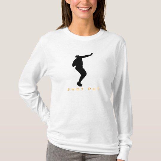 Atletismo - la camiseta lanzamiento de peso de las
