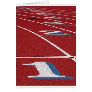 Atletismo Tarjeta De Felicitación