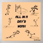 """Atletismo """"todo de Stickman en el trabajo de un dí Posters"""
