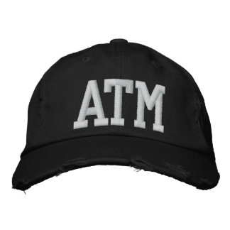 ATM hat Embroidered Baseball Caps