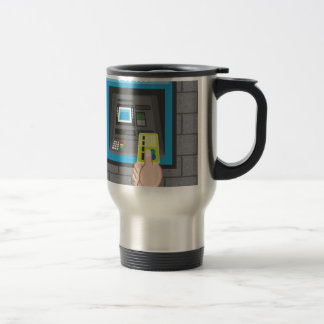 ATM human hand with a card Travel Mug