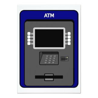 """ATM Machine Invitations 5"""" X 7"""" Invitation Card"""