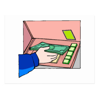 ATM Machine Postcard