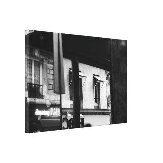 Atmopshere parisiense Windows y lona de las Impresiones En Lienzo Estiradas