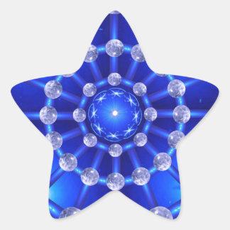 Atmósfera de la mandala pegatina en forma de estrella