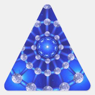 Atmósfera de la mandala pegatina triangular