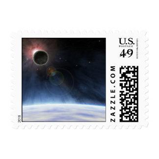 Atmósfera externa de la tierra del planeta sellos