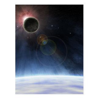 Atmósfera externa de la tierra del planeta tarjetas postales