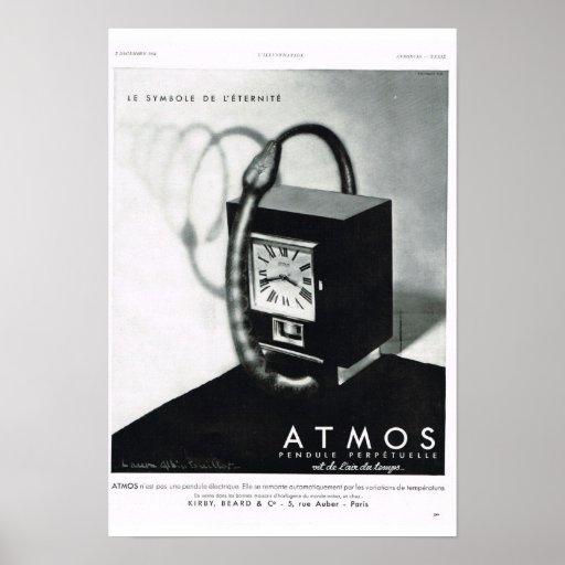 Atmósfera francesa del anuncio poster
