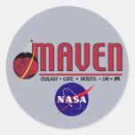 Atmósfera y evolución volátil (EXPERTO) de Marte Pegatina Redonda