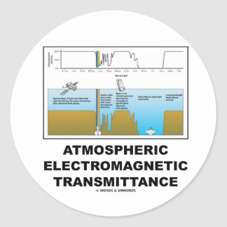 Atmospheric Electromagnetic Transmittance Classic Round Sticker