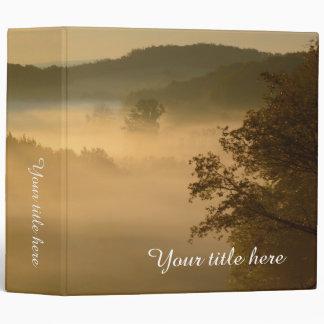 Atmospheric misty sunrise binder