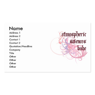 Atmospheric Sciences Babe Business Card