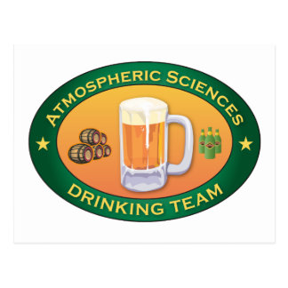 Atmospheric Sciences Drinking Team Postcard