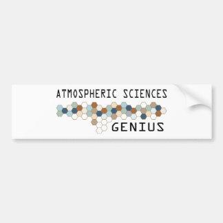 Atmospheric Sciences Genius Bumper Sticker