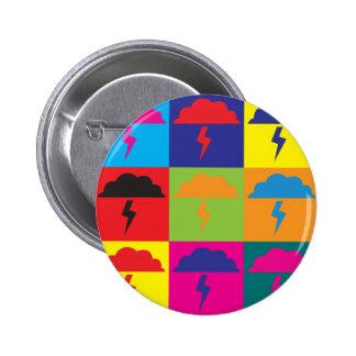 Atmospheric Sciences Pop Art Button