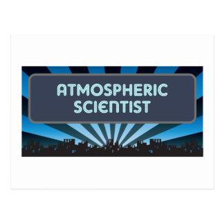 Atmospheric Scientist Marquee Postcard