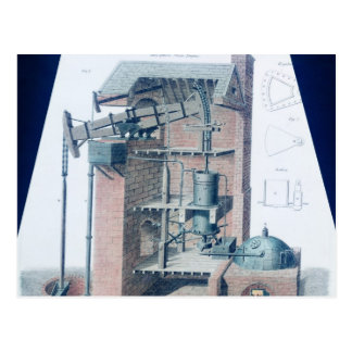 Atmospheric Steam Engine Postcard