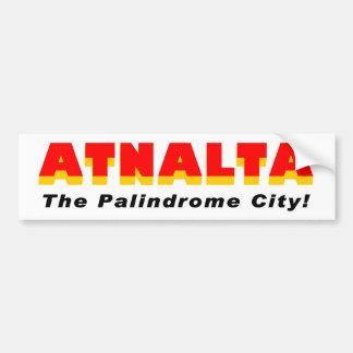 Atnalta: The Palindrome City Bumper Sticker