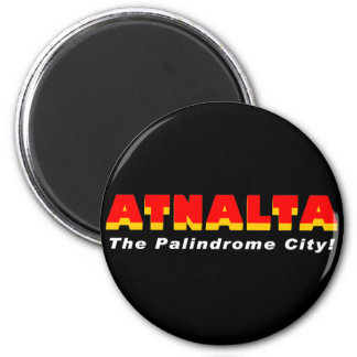 Atnalta: The Palindrome City 2 Inch Round Magnet