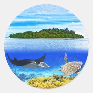 Atoll Classic Round Sticker