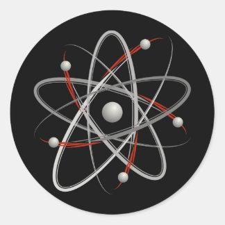 Atom (004a) classic round sticker