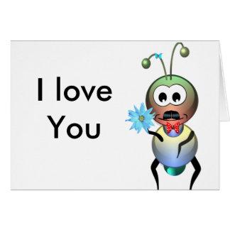 Atom Ant Flower Love Card