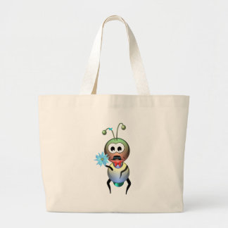 Atom Ant Flower Love Large Tote Bag